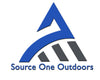 Source One Outdoors Logo. Outdoors Sporting Goods Store.