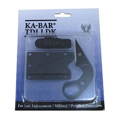 Ka-bar 1478BP Tactical Black TDI Law Enforcement Fixed Blade Ldk Knife + Sheath