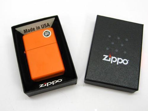 Zippo 231 Full Size Orange Matte Finish Classic Windproof Lighter Model