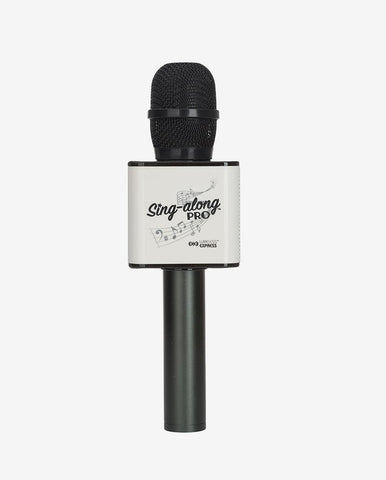 Sing-along PRO Black Karaoke Microphone & Bluetooth Speaker All-in-one