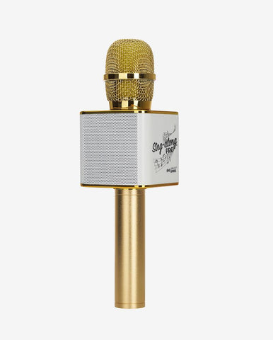 Sing-along PRO Gold Karaoke Microphone & Bluetooth Speaker All-in-one