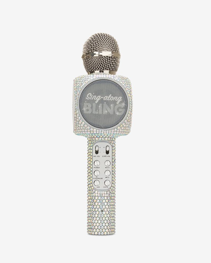 Sing-along Iridescent Bling Karaoke Microphone & Bluetooth Speaker All-in-one