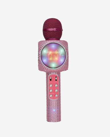 Sing-along Pink Bling Karaoke Microphone & Bluetooth Speaker All-in-one