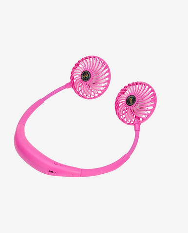 Pink LED Neck Fan