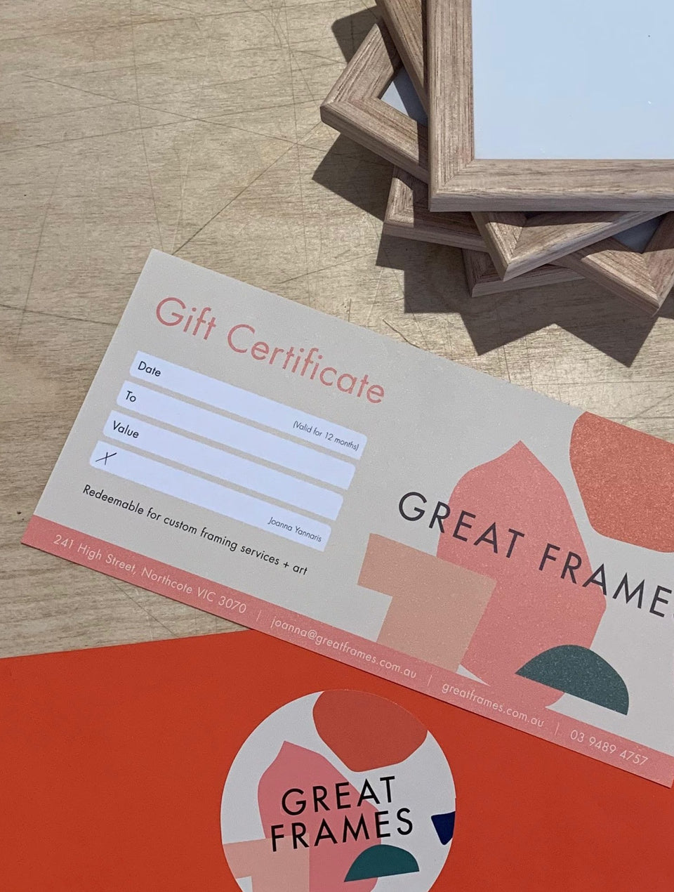 Great Frames Gift Voucher