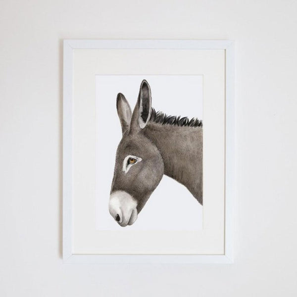 Doug The Donkey Print