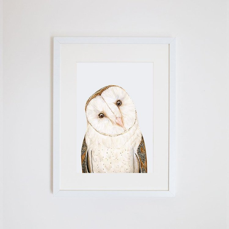 Luna The Bar Owl Print