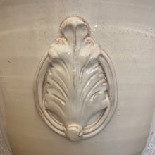 Load image into Gallery viewer, Vietri Rustic Garden White Large Footed Planter W/Emblem