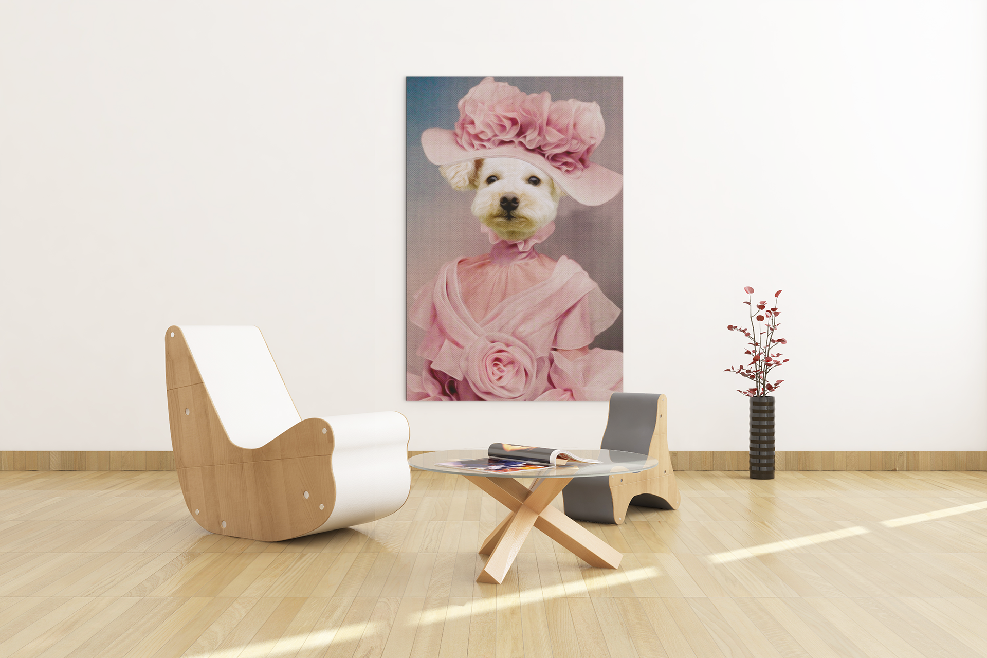 The Pink Lady | Gepersonaliseerde Canvas