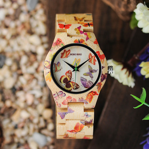 O20 Butterfly Woodes Women Watch - gutkaufen.net