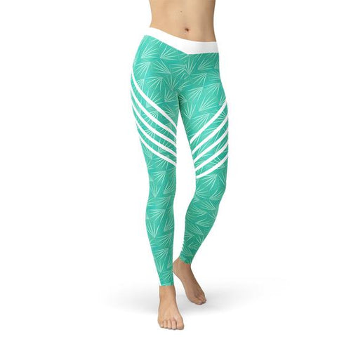 Turquoise Sports Leggings - gutkaufen.net