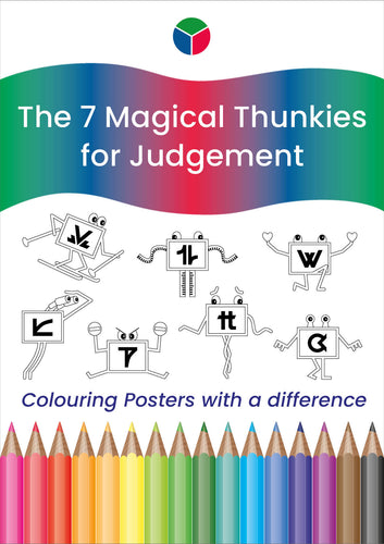 Blue Thunkies Colouring Posters