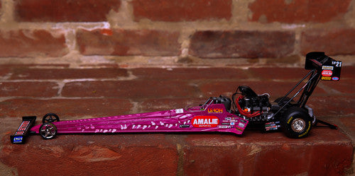 Pink Terry McMillen Amalie Motor Oil Top Fuel Die-Cast Dragster