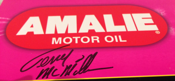 Original Driver Signature on Box Pink Die-Cast Terry McMillen Amalie Top Fuel Dragster