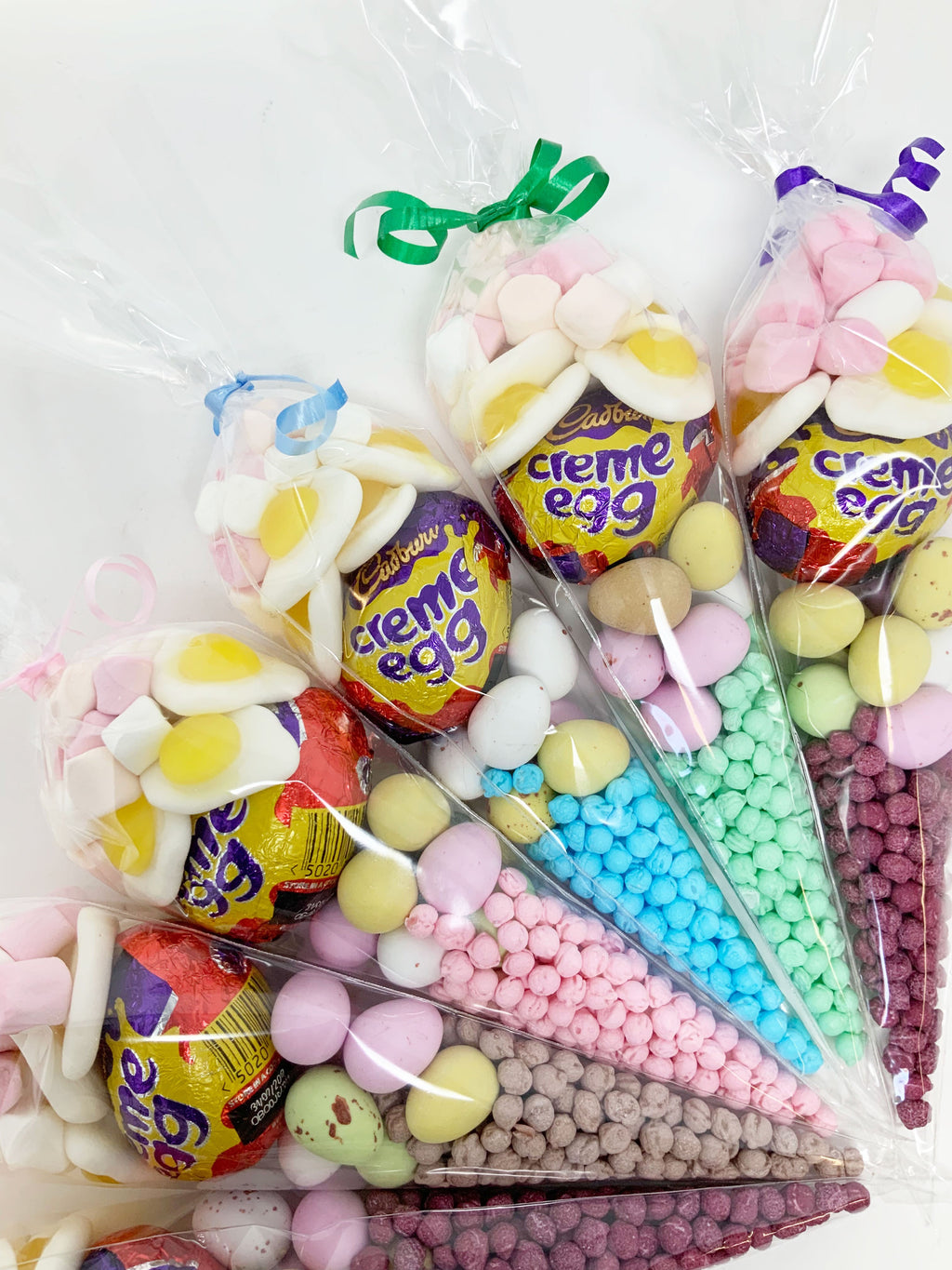 Easter Pre Filled Sweet Cone Assorted Colours A084