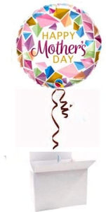 "Happy Mother's Day 18"" Round Foil Balloon Helium Inflated in a Box 17533"