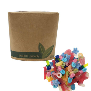 Vegan Fizzy and Jelly Mix in Bio-Degradable / Compostable Packaging