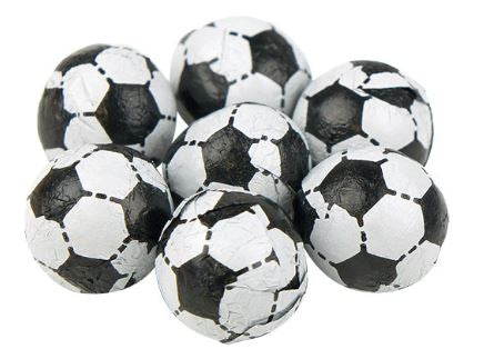 Assorted Black and White Chocolate Footballs