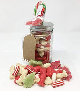 Christmas Sweet Mix in a Mason Jar with Candy Cane