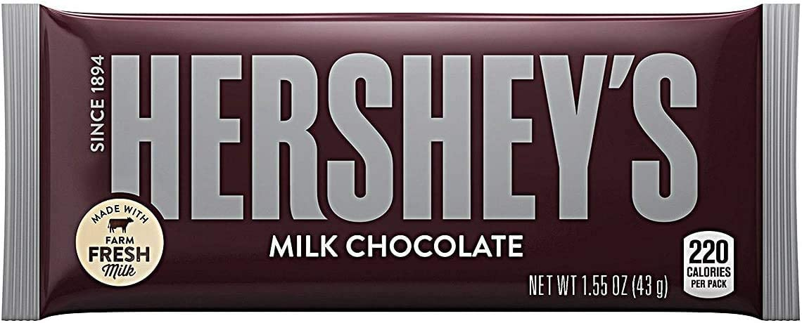 Hershey's Milk Chocolate Bar 45 g (Pack of 36)