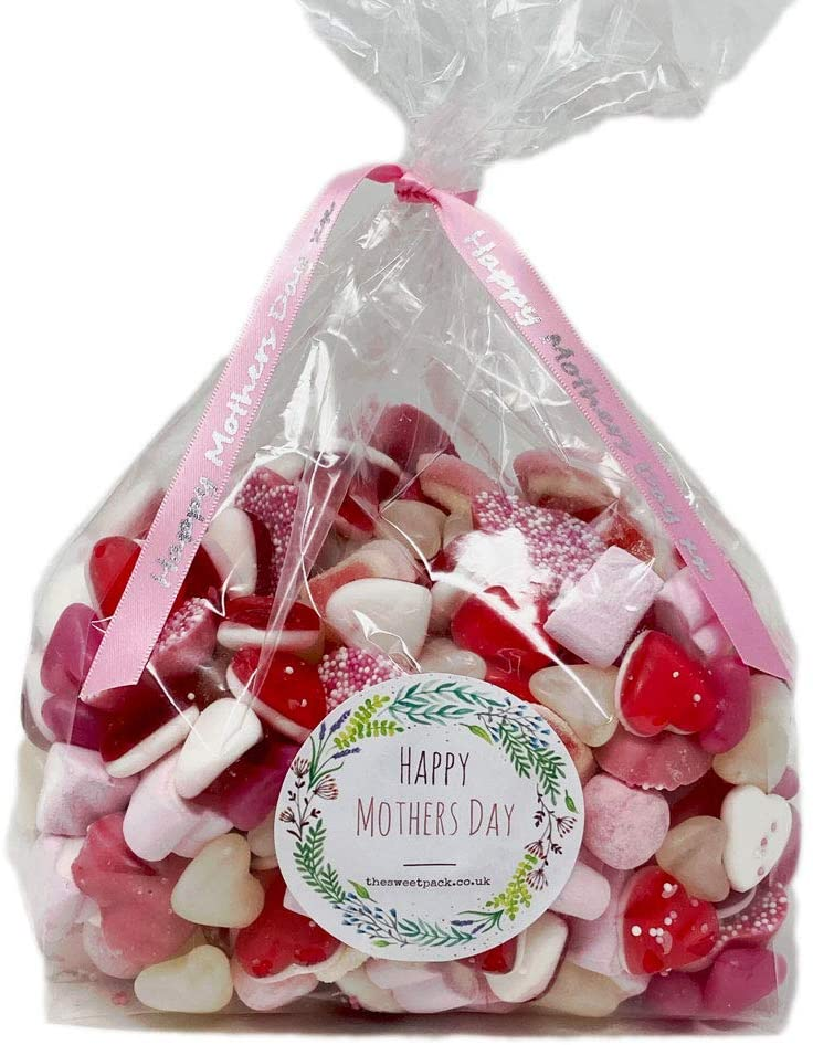 Love You Mum Mother's Day Sweets Mix in a Gift Bag with a Personalised 'Happy Mother's Day' Sticker (1kg)