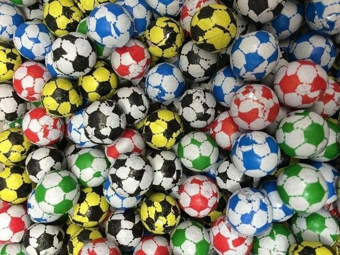 Assorted Chocolate Coloured Footballs