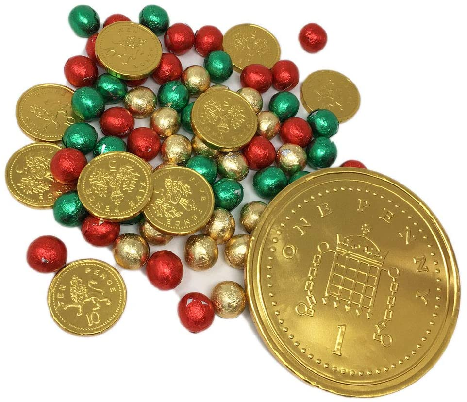 Christmas Chocolates and Coins Mix