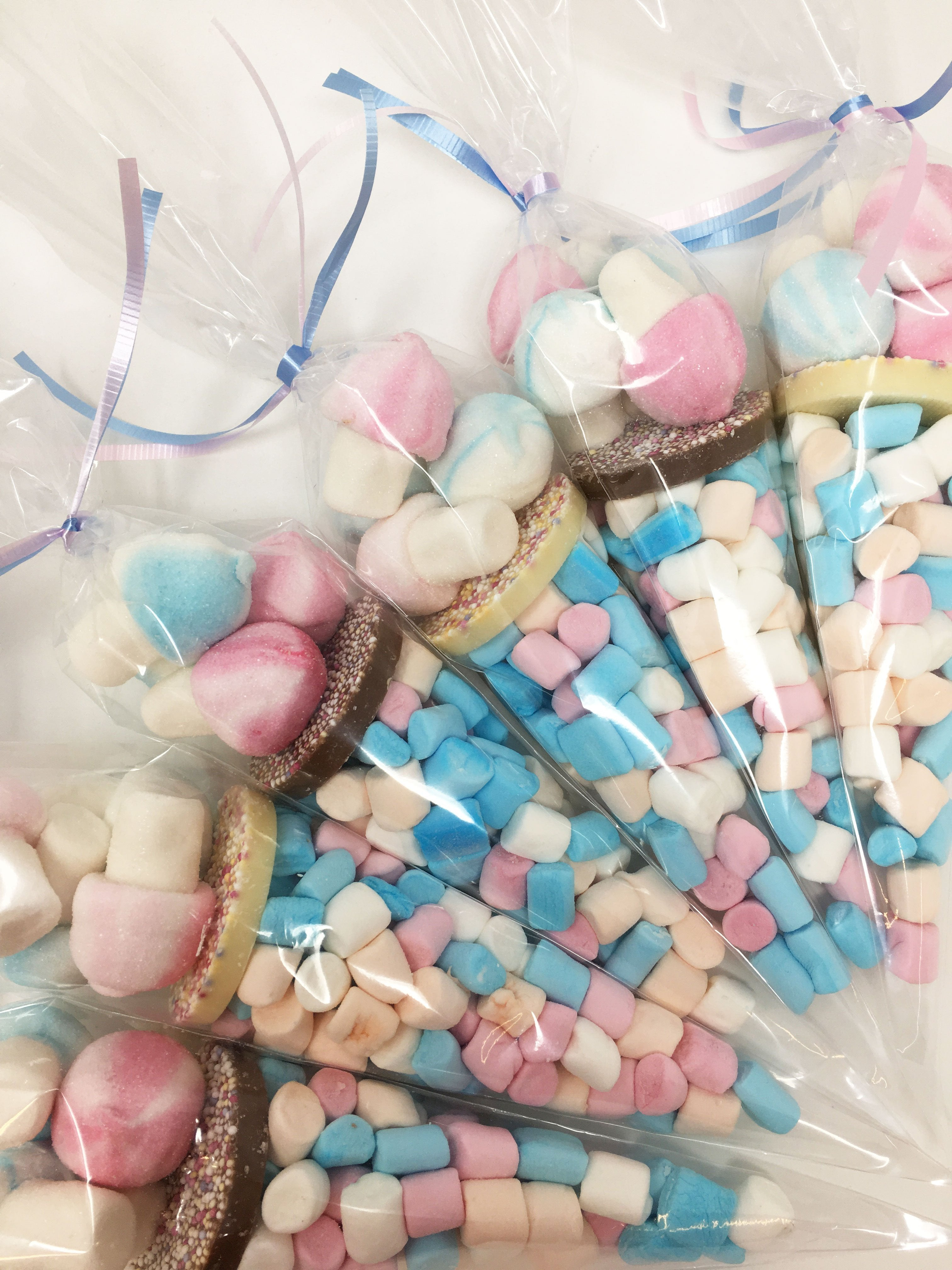 Gender Reveal Mallow Mushroom Mix Pre Filled Sweet Cone