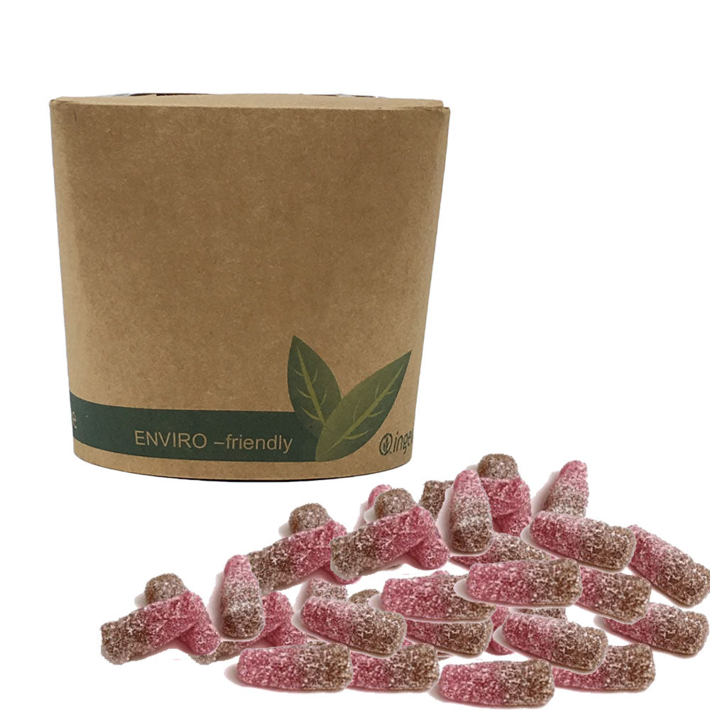 The Sweet Pack® Vegan Fizzy Cherry Cola Bottles in Bio-Degradable / Compostable Packaging