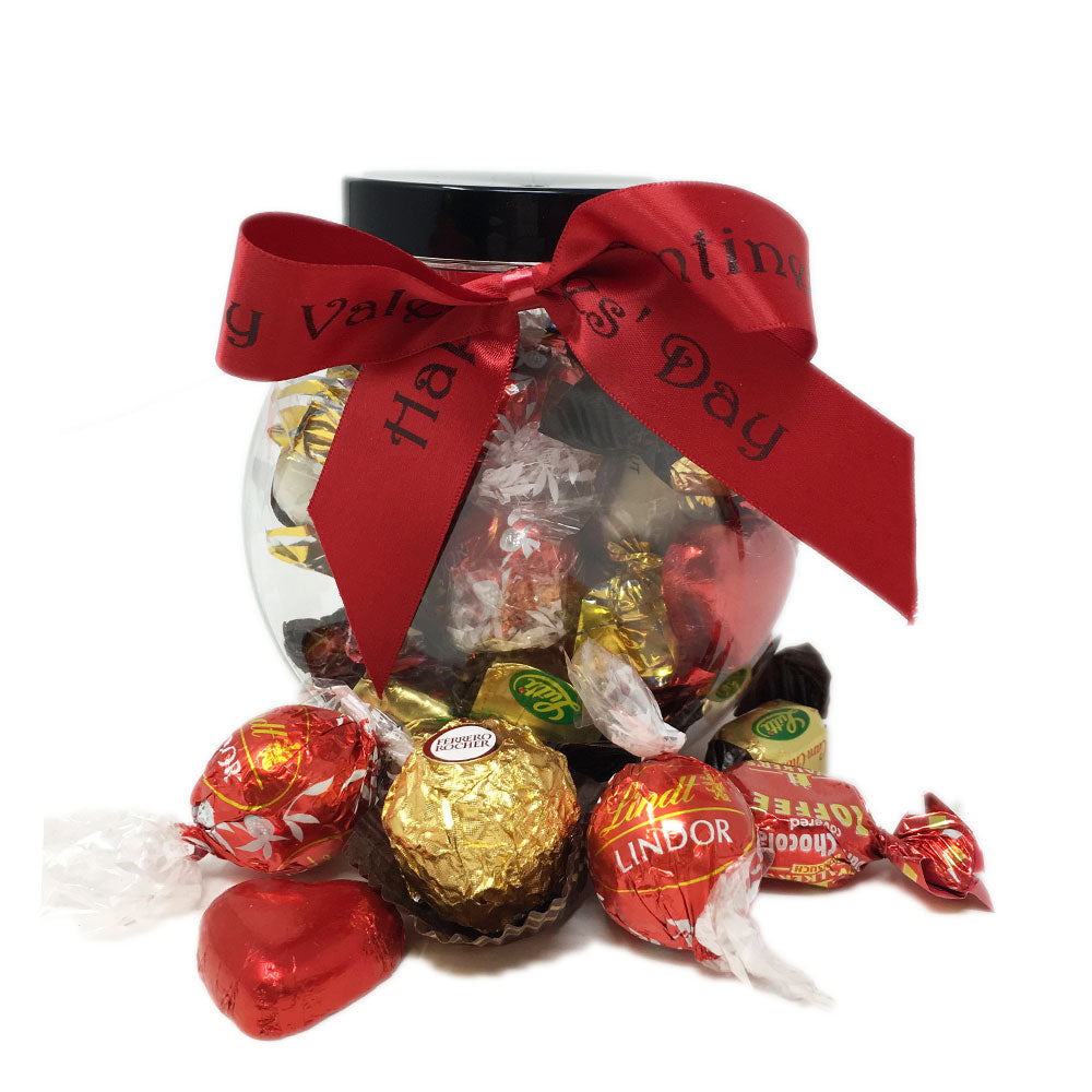 Luxury Valentine Chocolates in a Cookie Jar (250g)