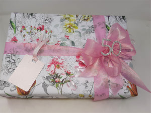 Floral Wrap and Pink Ribbon and Bow Pack