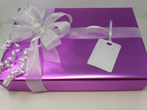 Fuchsia Wrap and Silver Ribbon and Bow Pack