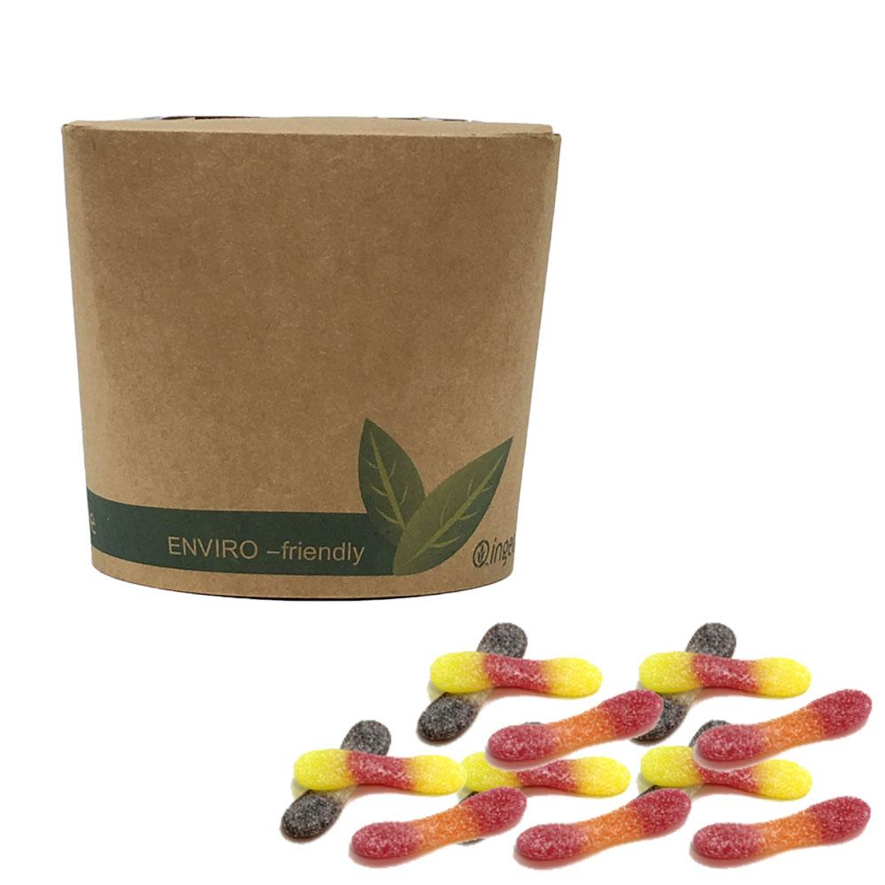Vegan Fizzy Tongues  in Bio-Degradable / Compostable Packaging