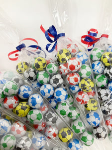 Chocolate Football Party Bag Sweet Cones