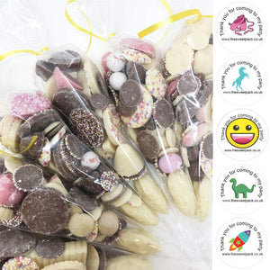 Candy Chocolate Mix Filled Sweet Cones with Free Stickers A034