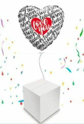 Love Foil Balloon Helium Inflated in a Box