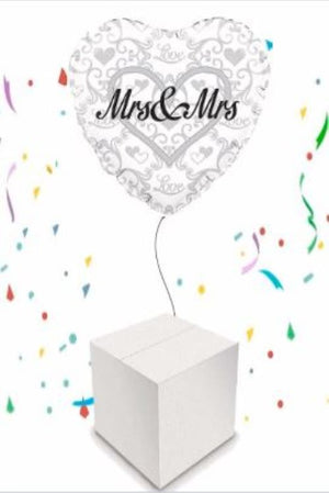 "Wedding and Anniversary 18"" Round Foil Balloon Helium Inflated in a Box"