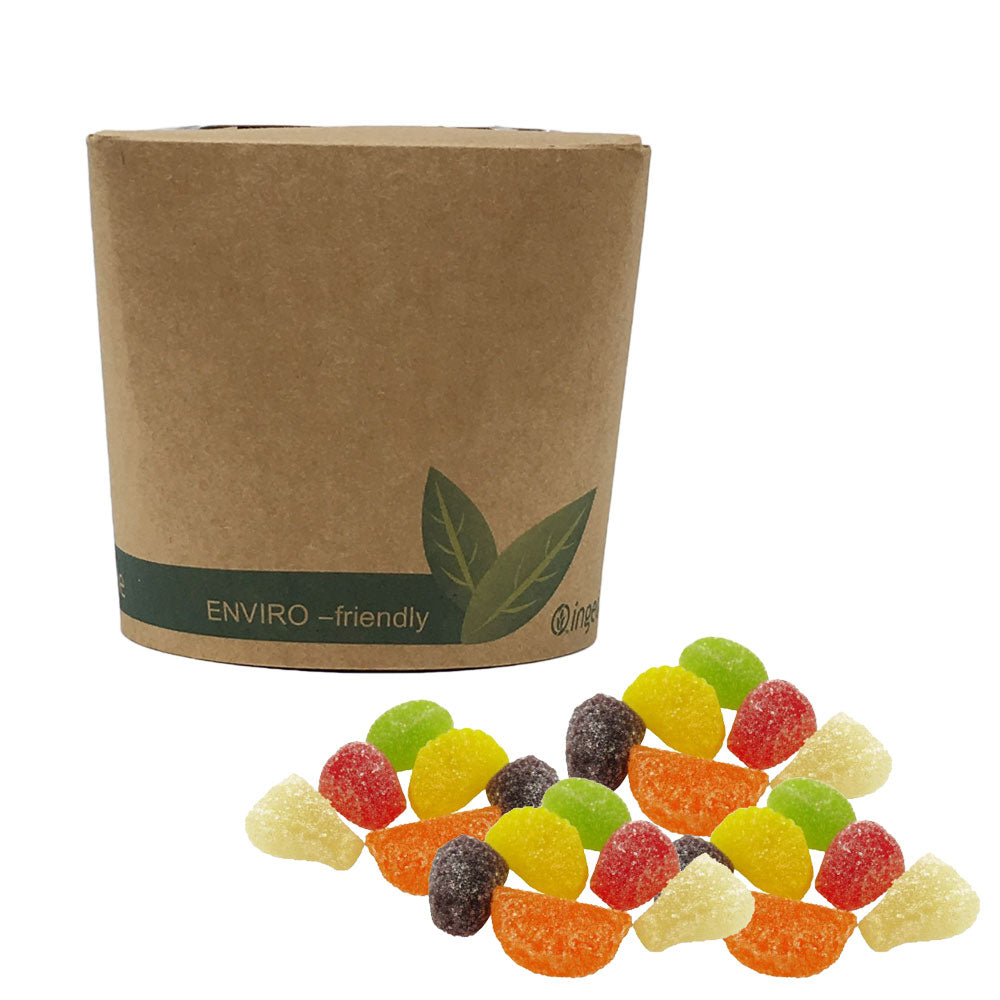 The Sweet Pack® Vegan Fruit Jellies in Bio-Degradable / Compostable Packaging