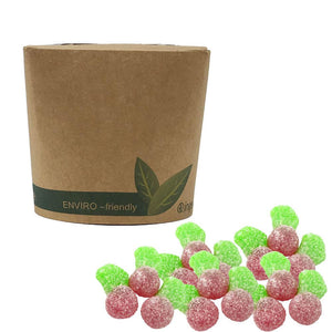 Vegan Sour Twin Cherries in Bio-Degradable / Compostable Packaging
