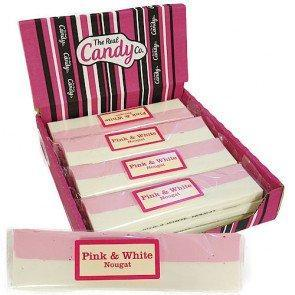 Candy Company Pink and White Nougat Bar