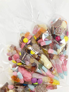 Pre Filled Pick n Mix Themed Sweet Cones A011