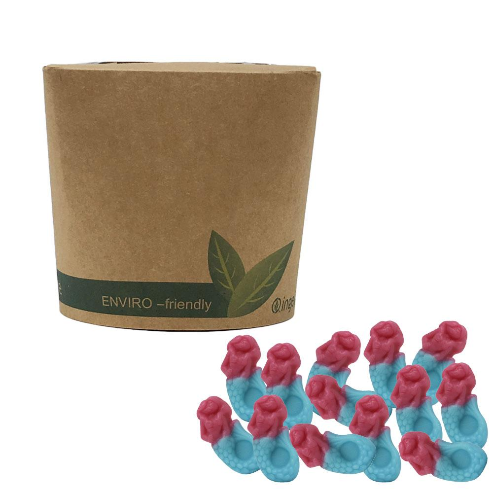 Vegan Jelly Mermaids in Bio-Degradable / Compostable Packaging