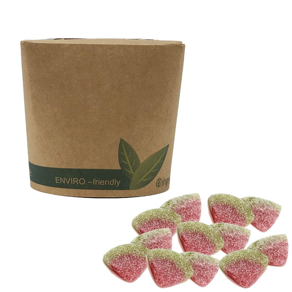 Vegan Sour Melon Slices in Bio-Degradable / Compostable Packaging