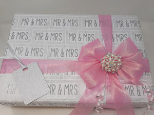 Mr and Mrs Wrap and Pink Ribbon and Bow Pack