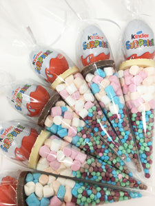 Kinder Egg Pre Filled Sweet Cone Assorted Colours sweets