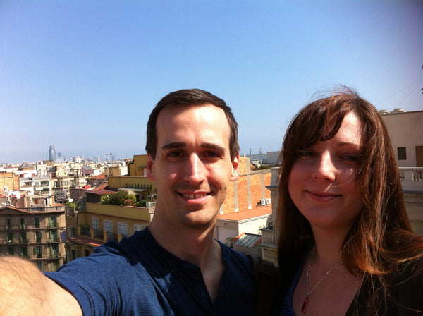 Tiffani and I in Barcelona, Spain