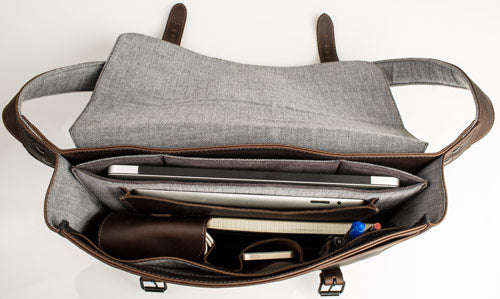 Journeyman Leather Laptop Messenger Bag Interior