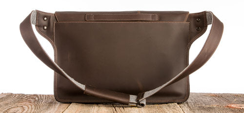 Journeyman Leather Messenger Bag Back