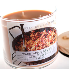 Warm Apple Crumble 3 Wick Coconut Wax Candle 14.5 oz