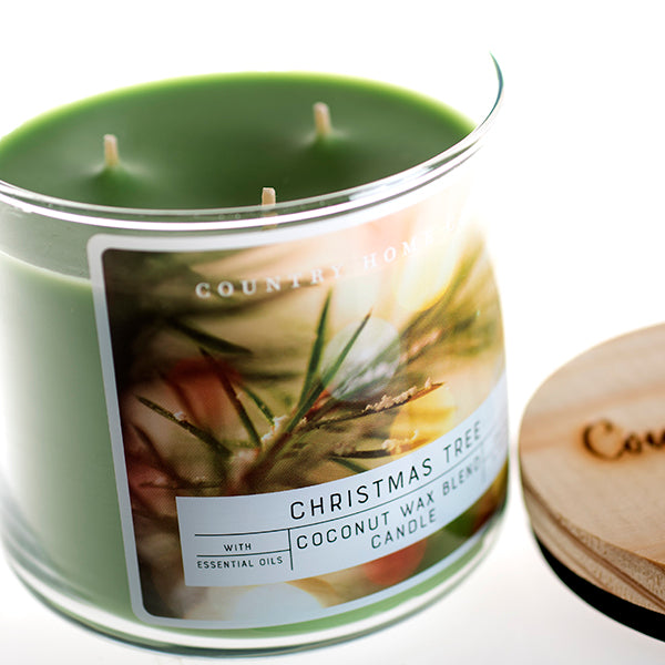 Christmas Tree 3 Wick Coconut Wax Candle 14.5 oz